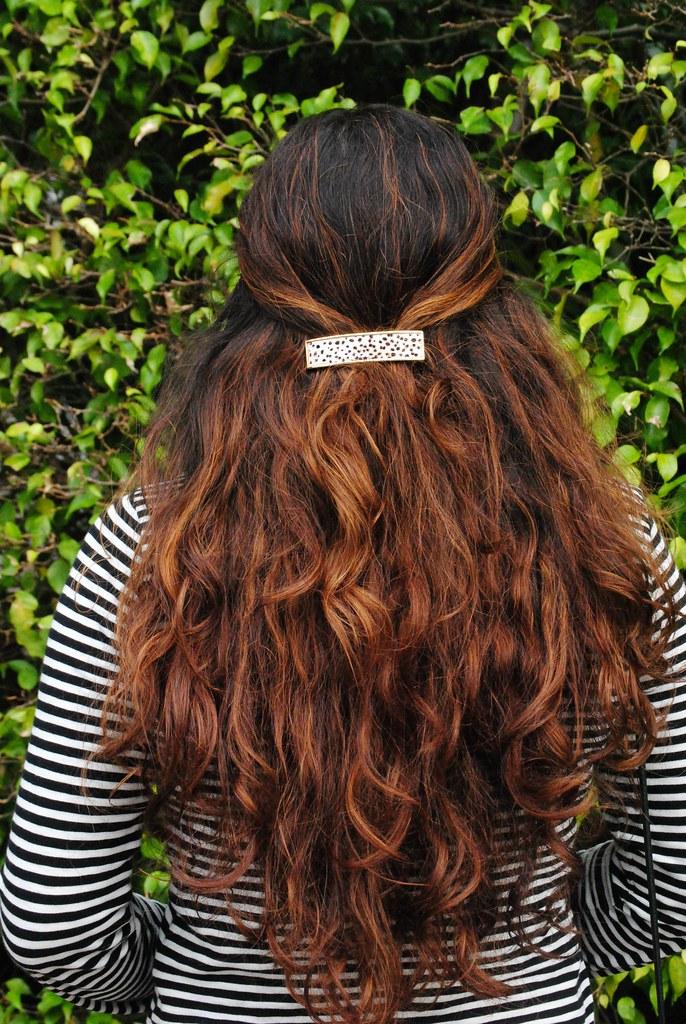 pony hair J. Crew barette
