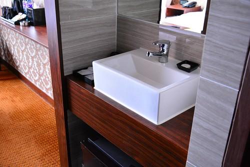 グランドシティホテルの洗面台