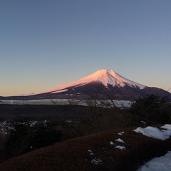 beni(light pink)fuji❤︎good morning  #nofilter #富士山 #山梨県 #山中湖 #benifuji #紅富士 #latergram
