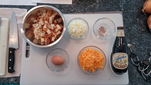Components for bread & cheese pudding