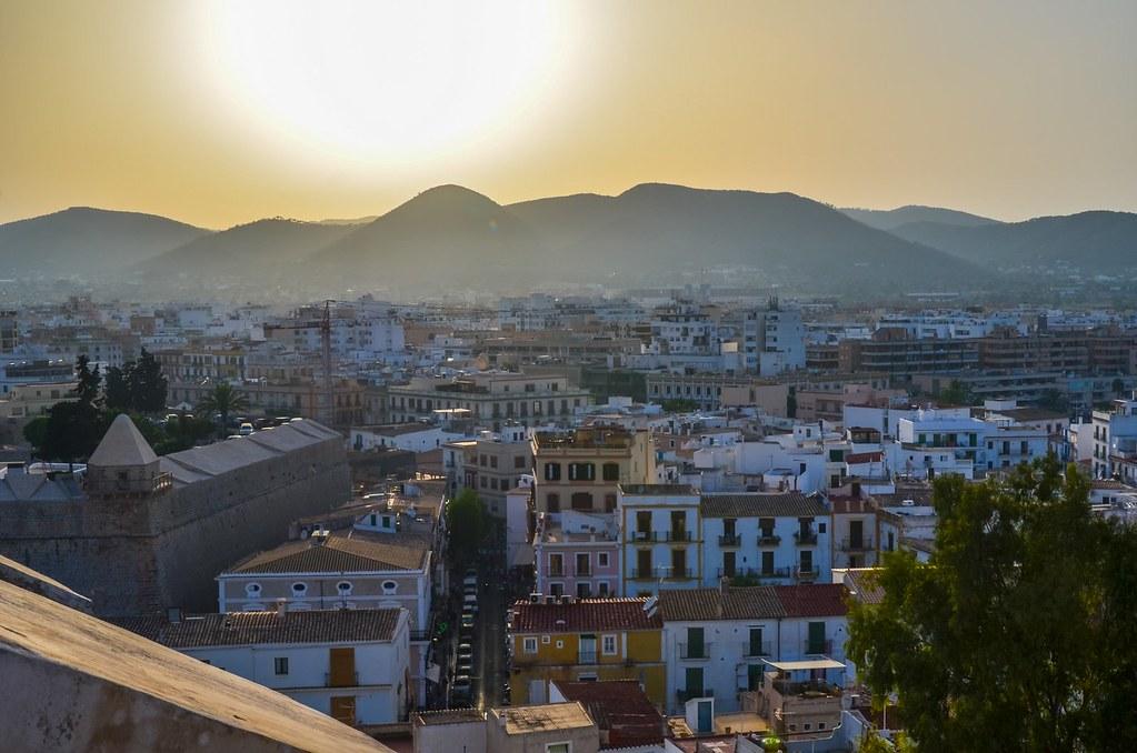 Sunset over Ibiza City