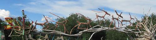sculpture newmexico animals rural weird wooden highdesert foundobjects cerrillos santaandreindeer ithinkthisisart