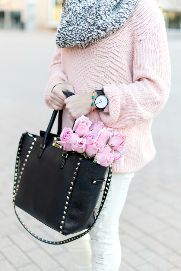 Pink with monochrome details