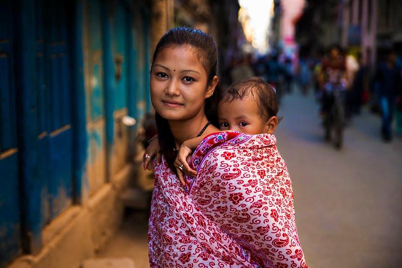 Portrait de femme, Kathmandu Nepal Photo: Mihaela Noroc