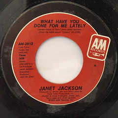 JANET JACKSON:WHAT HAVE YOU DONE FOR ME LATELY(LABEL SIDE-A)
