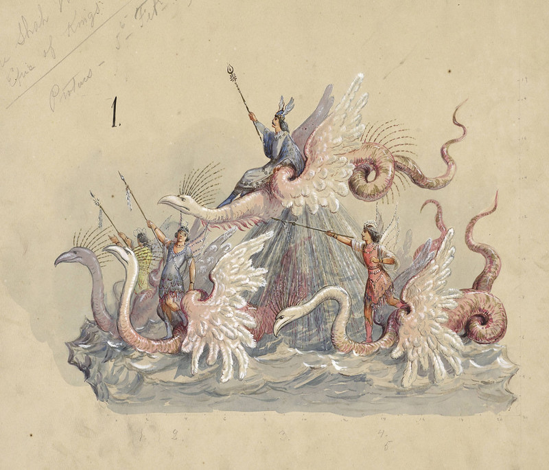Carlotta Bonnecaze - Proteus, float design from Krewe of Proteus, 1894