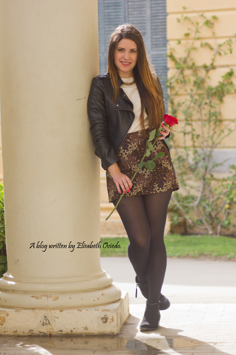 floral skirt ZARA botines Zalando new look outfit post HEELSANDROSES (8)