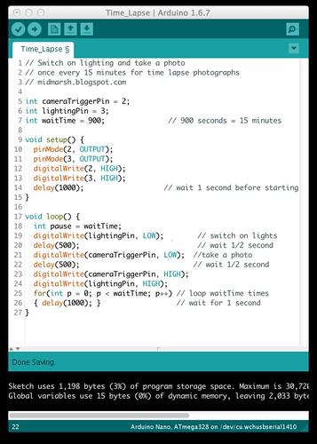 Arduino Time Lapse