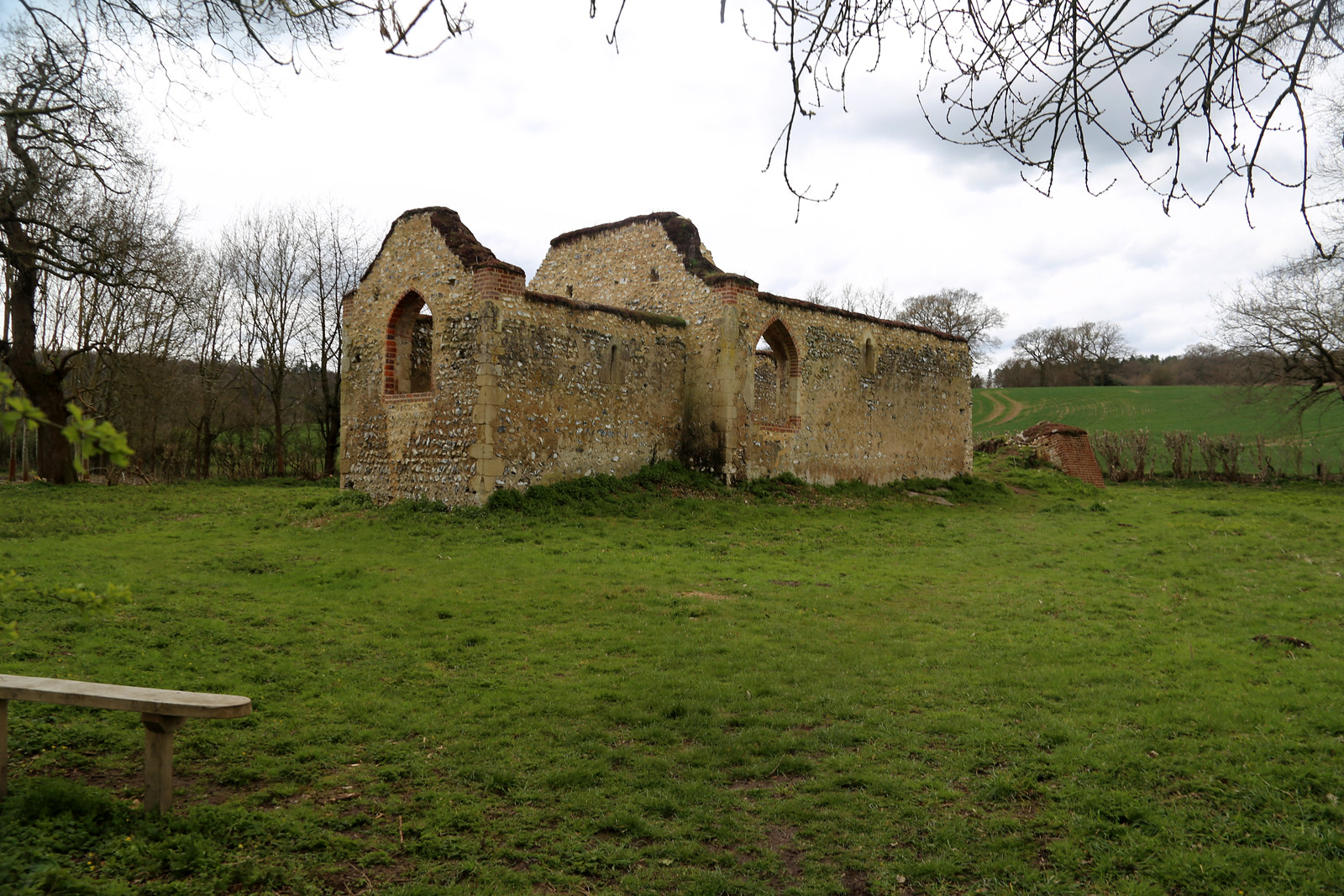 Remains of St James Church near Bix