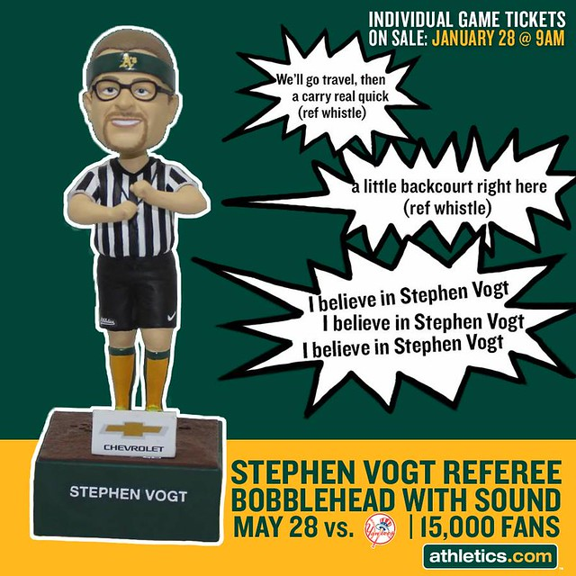 Oakland-Athletics_Stephen-Vogt-Bobblehead_5-28-2015