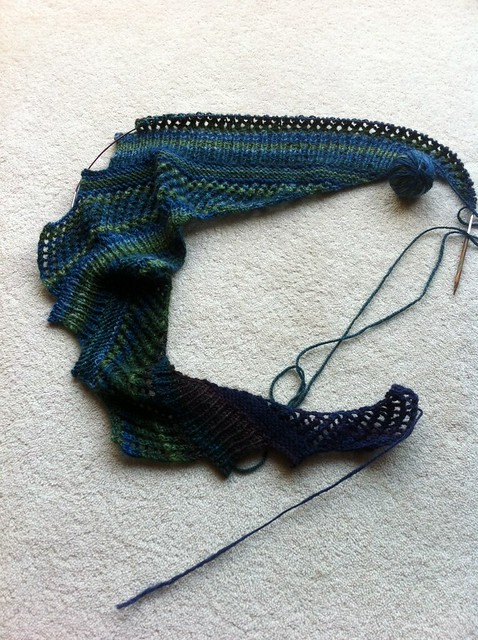 handspun Brickless WIP (1)