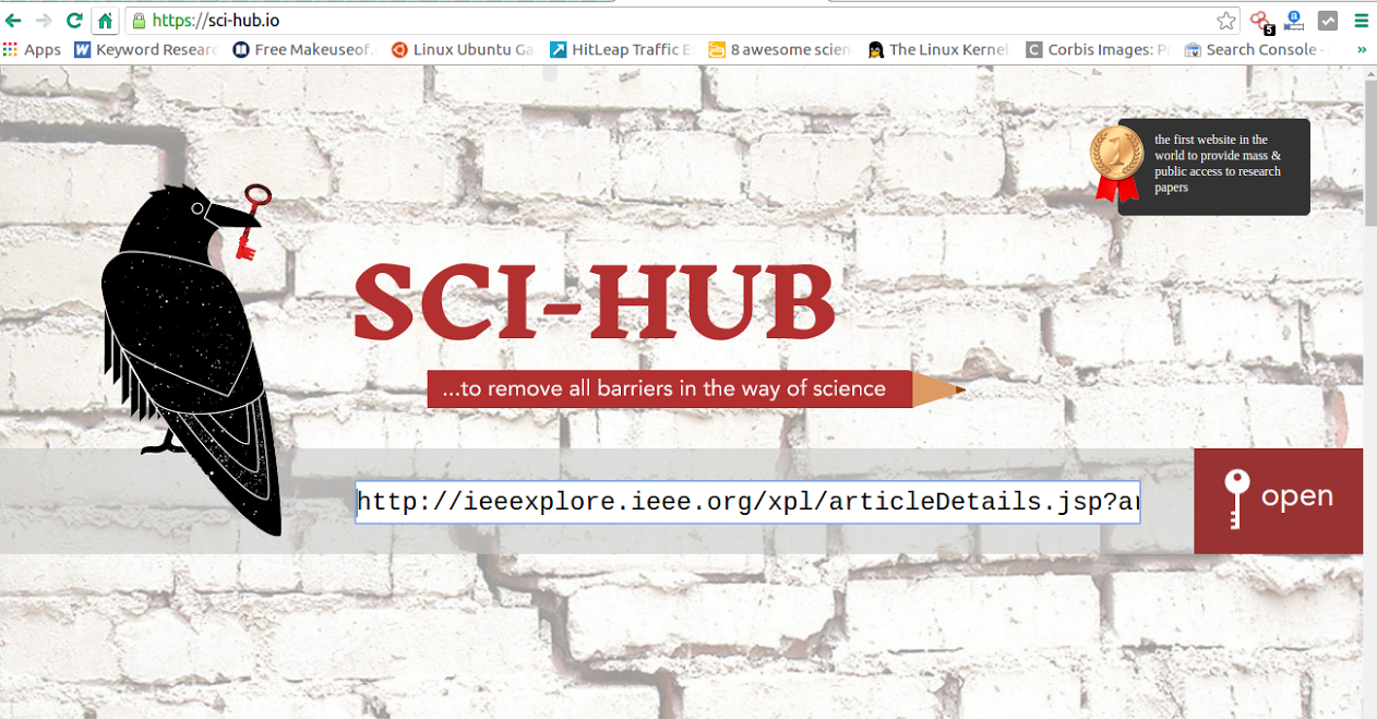 Sci-Hub: Download IEEE Papers For Free