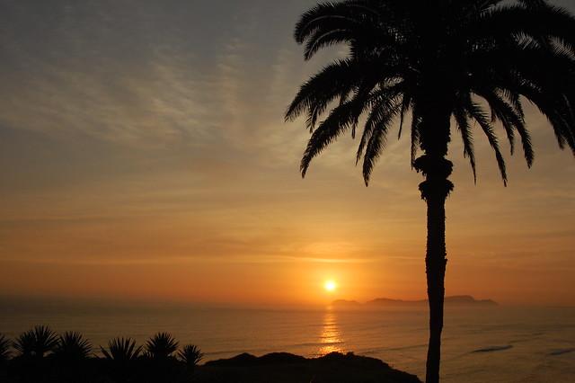 Sunset from Parque Intihuatana, Miraflores, Lima, Peru