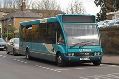 Arriva Southern Counties / Arriva Kent Thameside . 1507 YJ57EJN . Dunmow Road , Bishop's Stortford , Hertfordshire . Tuesday 12th-April-2016 .