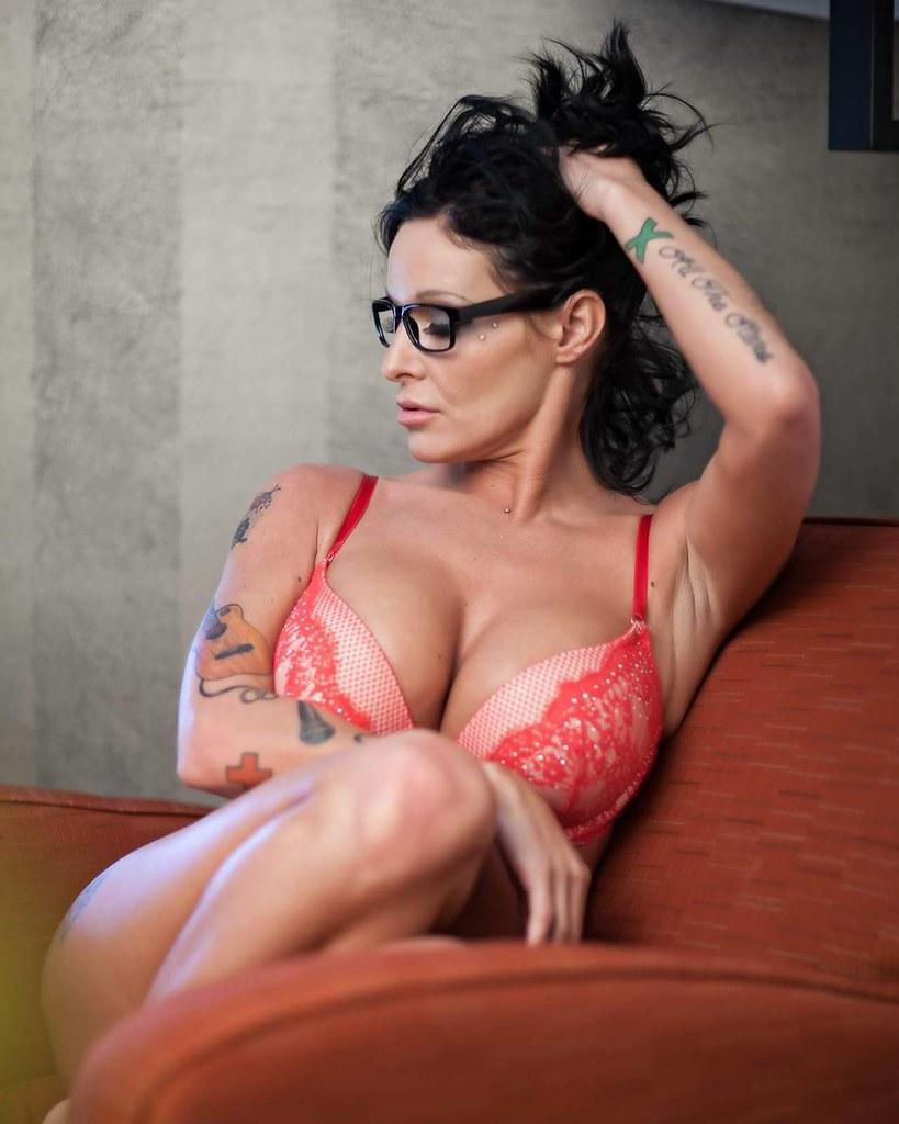 Hot For Teacher Model Katrina Boobs Bra Glasses Sexy Boudoir