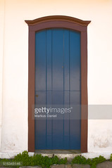 Dark blue Front Door in Paraty, RJ