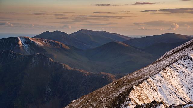 'Sunlit Ridges' - Snowdonia