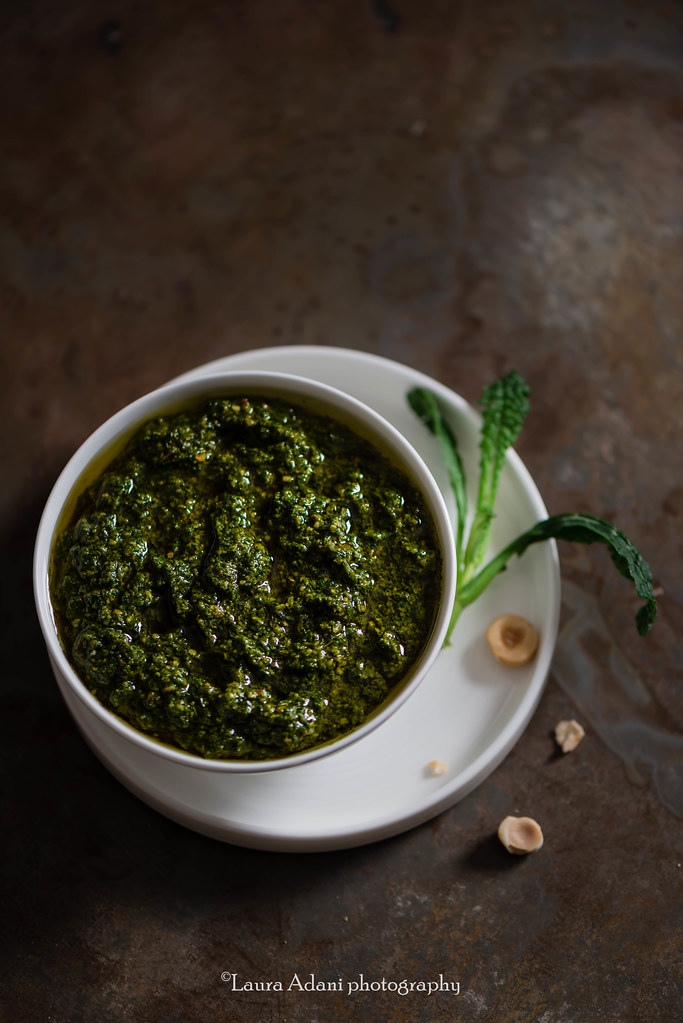 black cabbage pesto