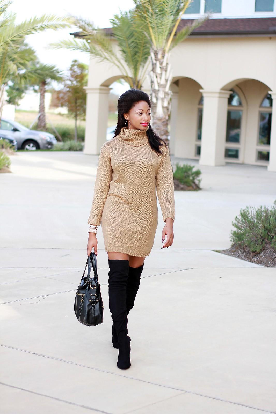 warm dress for winter knit sweater dress