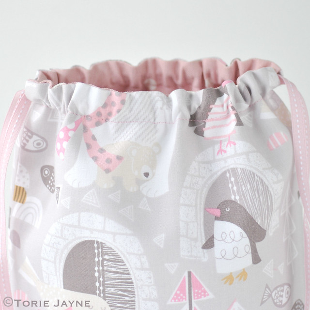 Toddler Girls Drawstring Backpack Sewing Tutorial 13