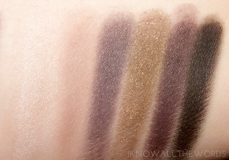 Maybelline The Rock Nudes Palette Swatches- bottom row