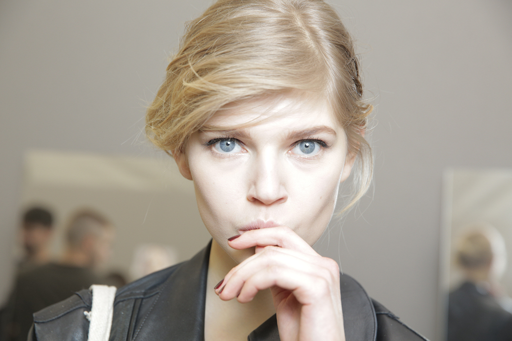Backstage at Dior Couture Spring 2016 Makeup