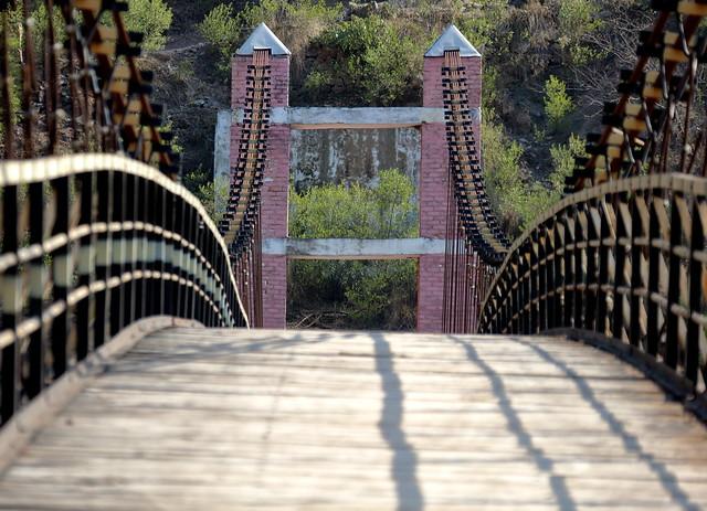 Suspension bridge, across Jhelum River, Kashmir