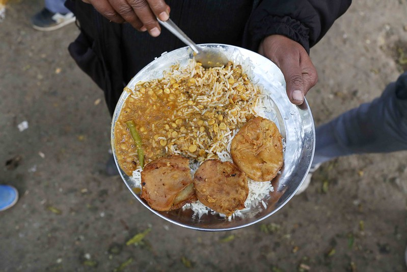 City Food - Auto Drivers' Dal-Chawal Stall, Kasturba Gandhi Road