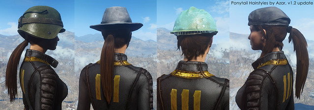 Fallout 4 Mod Adds 12 New Ponytail Hairstyles For Males Females