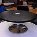 Black circular coffee table