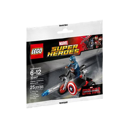 LEGO Marvel Super Heroes Civil War Captain America's Motorcycle (30447)