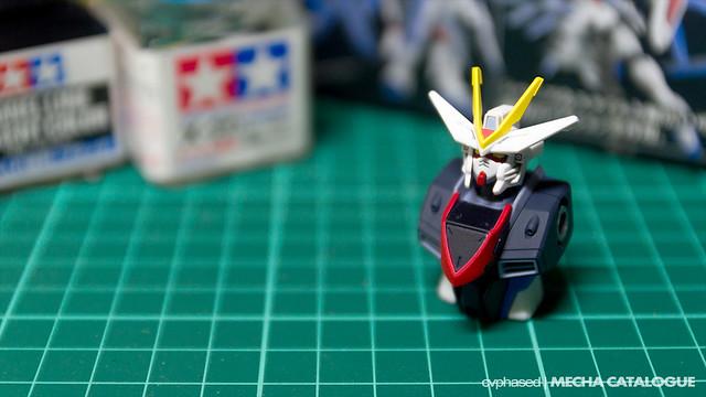 HG Freedom Gundam Flame Feder - Work in Progress #1