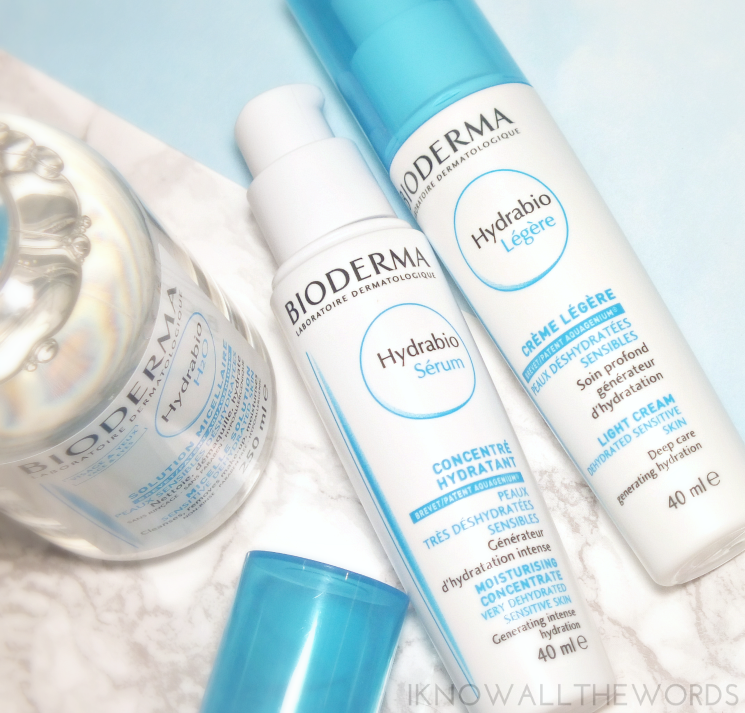 Bioderma Hydrabio Serum Moisturizing Concentrate and Light Cream
