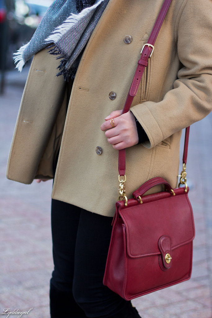 black sweater, camel coat, red coach bag, black boots-6.jpg