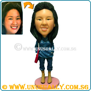 Unusually Custom 3D Blue Sweater Female Figurine - © www.unusually.com.sg
