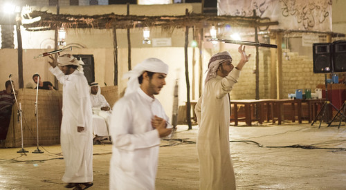 heritage festival dancing arab fighters weapons sheikhzayed emirati