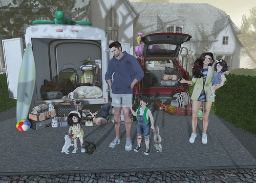 Oleander Family Packing for Vacation