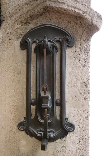 The door knocker of Victor Horta's Art Nouveau House Museum in Brussels, Belgium