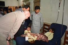 Mr. Carsten with patient at Engro Thallasaemia Center Sukkur