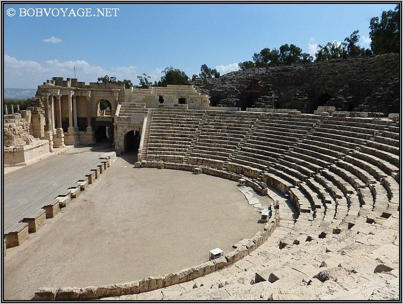 במסגרת טיול קצר בצפון הארץ ביקור בתאטרון הרומי בבית שאן