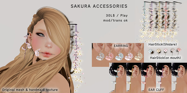 *NAMINOKE*SAKURA ACCESSORIES GACHA