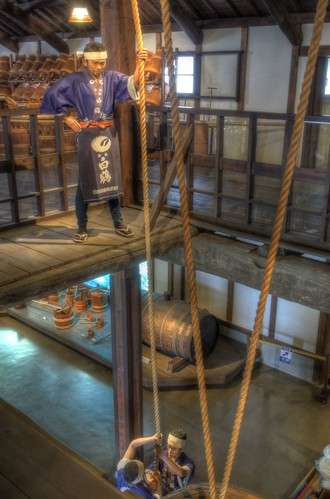 Sake maker 'HAKUTSURU' museum at Nada, Kobe on APR 08, 2016 (7)