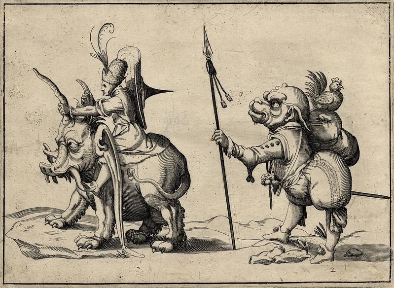 Arent van Bolten - Grotesque Creatures 20, 1604-1616