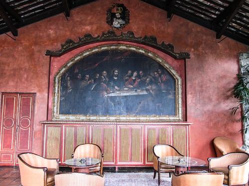 Antigua: la Cène dans l'Hotel Casa Santo Domingo