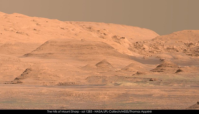 The hills of Mount Sharp - sol 1283