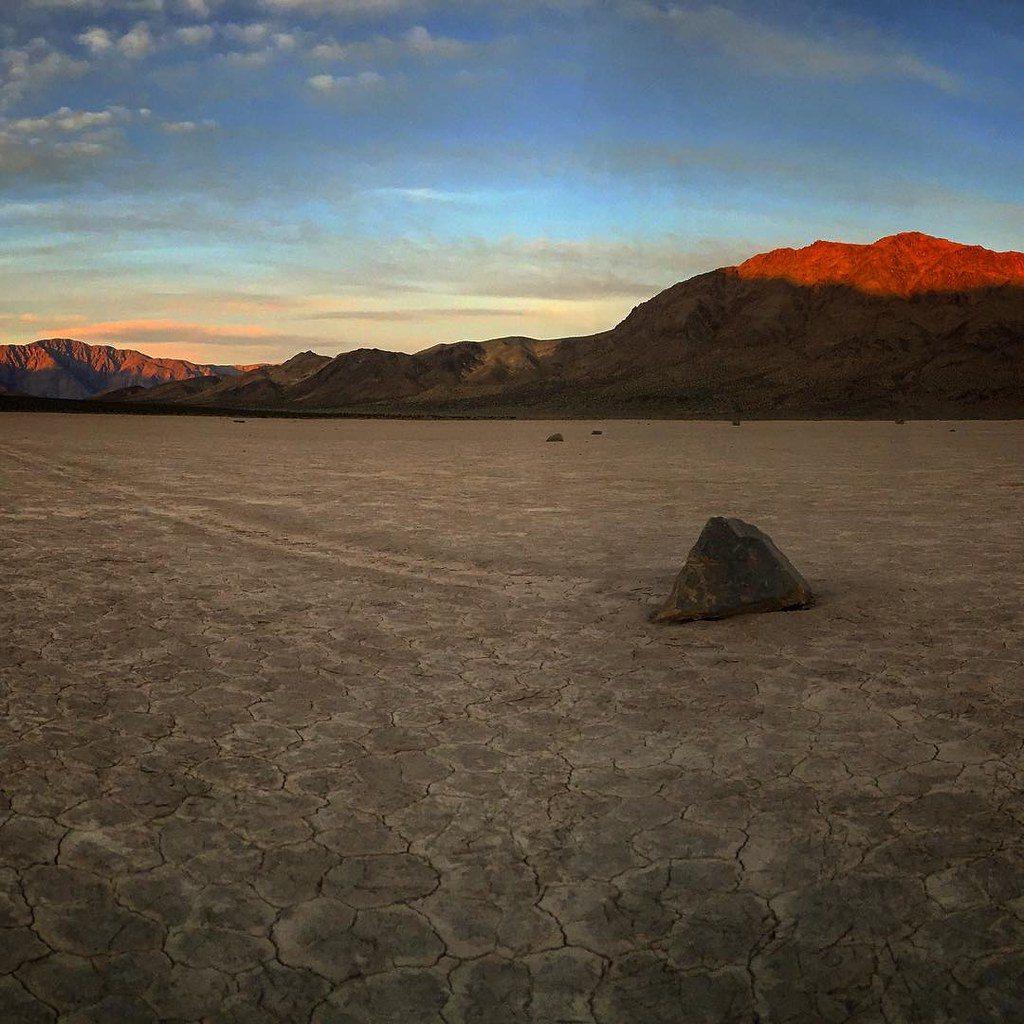 Sunrise at the racetrack #deathvalley #nationalpark