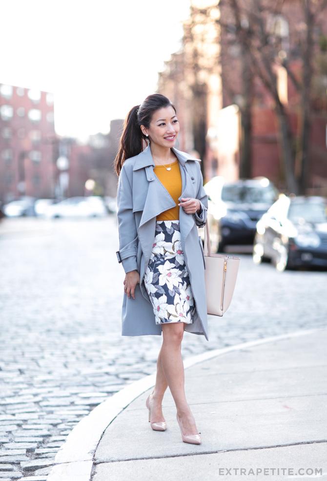 professional office outfit ann taylor petites manolo blahnik BB