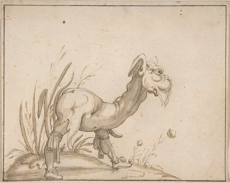 Arent van Bolten - Monster 111, from collection of 425 drawings, 1588-1633