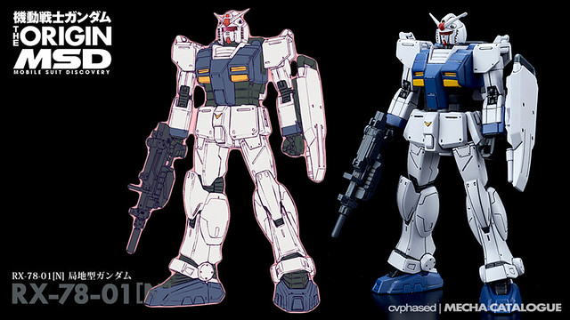 "Mobile Suit Gundam THE ORIGIN MSD - RX-78-01[N] Gundam ""Local Type"""