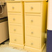Cream painted slim 4 drawer locker